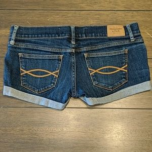 Abercrombie and Fitch Dark Denim Short Shorts